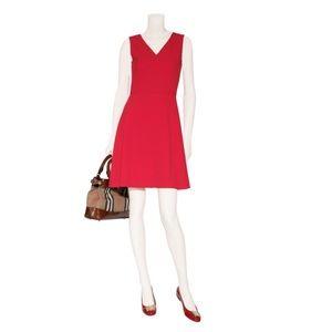 DKNY Scarlet Red V-Neck Dress NWT SZ 6